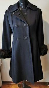 Vintage Wool With Mink Cuffs Coat